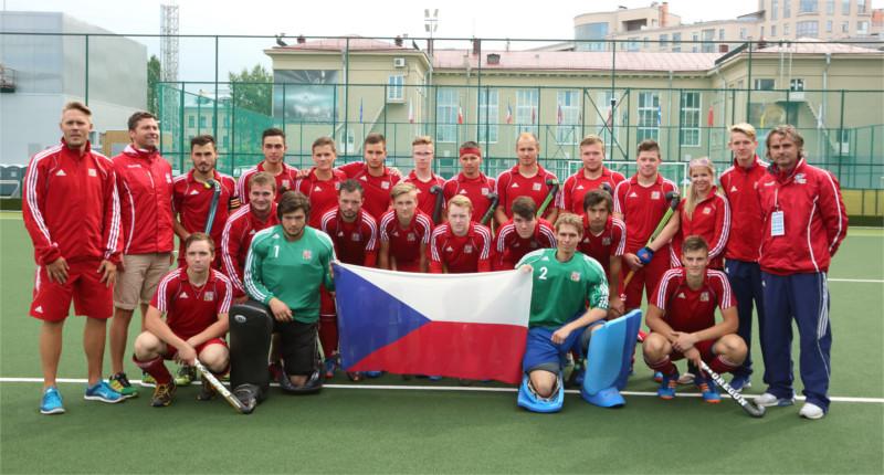 Celý tým reprezentace České republiky do 21 let.